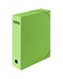 Папка архивная на резинках OfficeSpace, микрогофрокартон, 75мм, зеленый, до 700л.