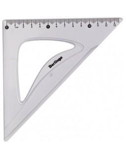 """Треугольник 45°, 13см Berlingo """"Spike"""", прозрачный"""