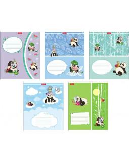 """Тетрадь """"Приключения маленькой панды"""" в клетку, 24 листа, А5, на скобе"""