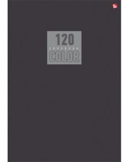 """Тетрадь """"Стиль и цвет. Серый"""", А4, 120 листов, клетка"""