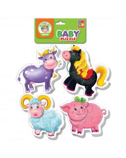 "Мягкие пазлы Baby puzzle ""Ферма"" 4 картинки, 16 эл."