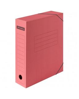 Папка архивная на резинках OfficeSpace, микрогофрокартон, 75мм, красный, до 700л.