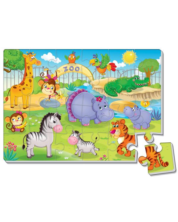 Мягкие пазлы Зоопарк А4 24 элемента