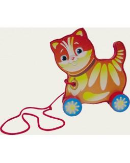Котик. Деревянные игрушки-каталки