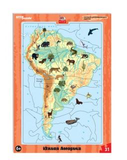 Развивающий пазл Южная Америка (большие) (IQ step)