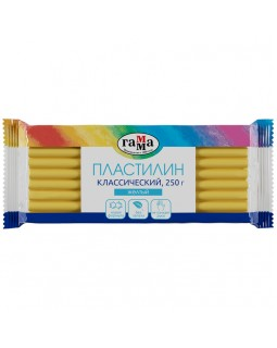 """Пластилин Гамма """"Классический"""", желтый, 250г"""