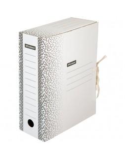 """Папка архивная с завязками OfficeSpace """"Standard"""" плотная, микрогофрокартон, 100мм, белая, 900л."""