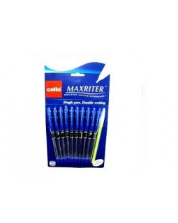 Ручка Maxriter синяя 727+1 масляная