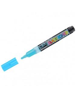 """Маркер меловой MunHwa """"Black Board Marker"""" голубой, 3мм, водная основа"""
