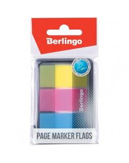 Флажки-закладки Berlingo, 45*20мм, 20л*3 неоновых цвета, в диспенсере