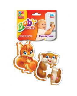 """Мягкие магнитные Baby puzzle """"Пушистики"""" 2 картинки, 7 эл."""