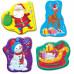 """Мягкие пазлы Baby puzzle """"Новогодние приключения"""" 4 картинки, 16 эл."""