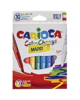 """Фломастеры меняющие цвет Carioca """"Color Change"""", 9цв+1, 10 шт."""