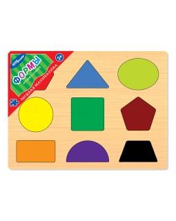 """Игра из дерева """"Весёлая математика. Формы"""""""