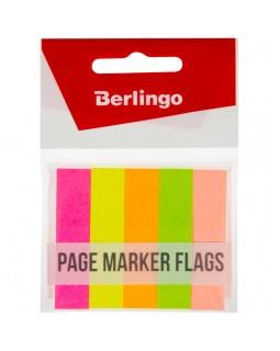 Флажки-закладки Berlingo, 50*12мм, бумажные, 50л*5 неоновых цветов, европодвес