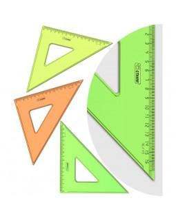 """Треугольник 45°, 16см Стамм """"NEON Cristal"""", ассорти"""