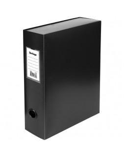Короб архивный на кнопке Berlingo разборный, 100мм, пластик, 900мкм, черный
