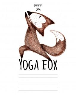 "Тетрадь ""Yoga fox"", А5, 18 листов, линия"