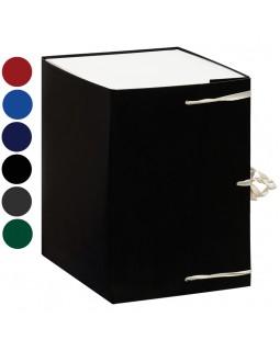 Короб архивный с завязками OfficeSpace разборный, БВ, 250мм, ассорти, клапан микрогофрокартон