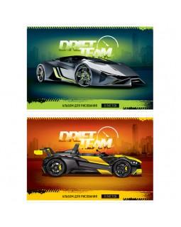 """Альбом для рисования 08л., А4, на скрепке ArtSpace """"Авто. Drift team"""", обложка-офсет"""
