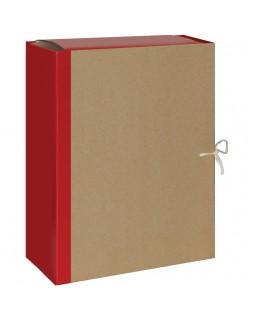 Папка архивная OfficeSpace, крафт/бумвинил, с 4 завязками, ширина корешка 120мм