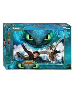 """Мозаика """"puzzle"""" 35 MAXI """"Как приручить дракона - 3"""" (DreamWorks)"""
