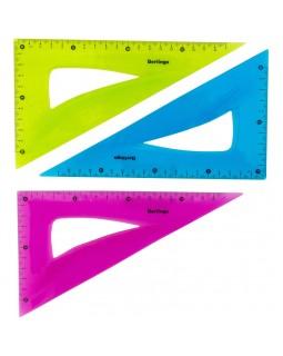 """Треугольник 30°, 18см Berlingo """"Flexy"""", гибкий, ассорти"""