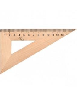 Треугольник линейка деревянная 22 см 60*90*30