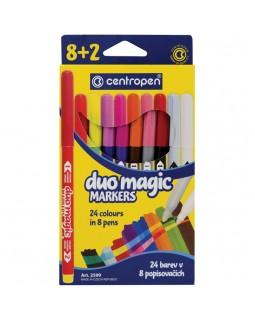 """Фломастеры меняющие цвет Centropen """"Duo Magic"""", 08цв+2, 10шт., 24 цв."""