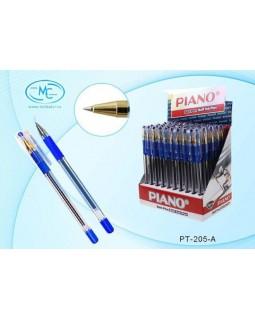 """Ручка шариковая PIANO """"GOLD"""", 0,5мм, прозрачный корпус, резиновый держатель"""