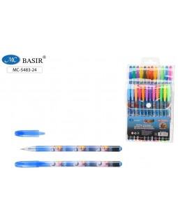 Ручки в наборе гель 24цв АСТРОНАВТЫ ароматизированные с блестками