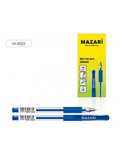 Ручка гель DENISE СИНЯЯ 0.5мм, корпус прозрач., рез.грип, М-5523-70