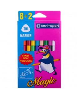"""Фломастеры меняющие цвет Centropen """"Magic"""", 8цв+2, 10шт."""