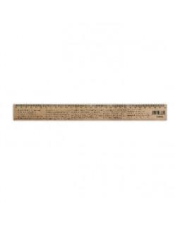 Линейка деревянная 30 см «Физика» (шелкография)