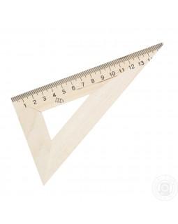 Треугольник линейка деревянная 16 см 30*60