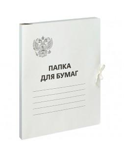 Папка для бумаг с завязками OfficeSpace, Герб России, картон немелованный,300г/м2, белый, до 200л.