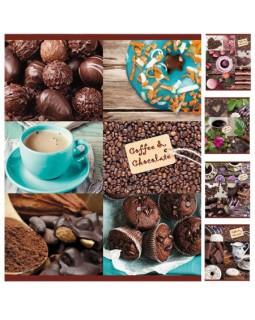 """Тетрадь """"Coffee&Chocolate"""" 96л, А5, клетка"""