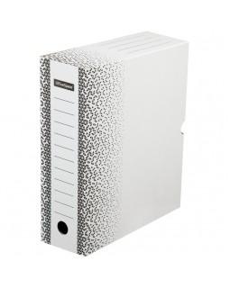 """Короб архивный с клапаном OfficeSpace """"Standard"""" плотный, микрогофрокартон, 100мм, белый, до 900л."""