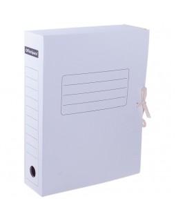 Папка архивная с завязками OfficeSpace, микрогофрокартон, 75мм, белый, до 700л.