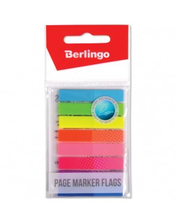 Флажки-закладки Berlingo 45*8мм, 20л*8 неоновых цветов