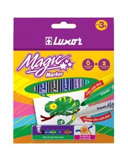 """Фломастеры меняющие цвет Luxor """"Magic"""", 06цв+2, 8шт."""