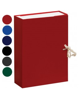 Короб архивный с завязками OfficeSpace разборный, БВ, 80мм, ассорти, клапан картон, до 700л.