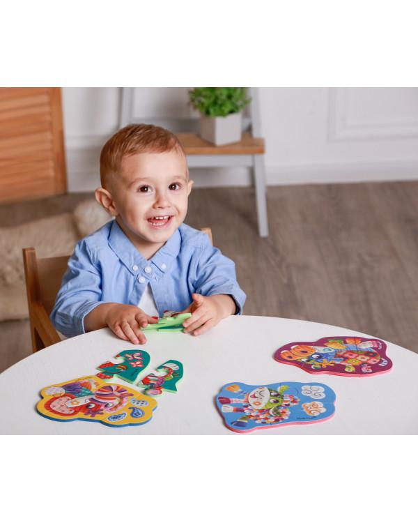 "Мягкие пазлы Baby Puzzle ""Чудо ферма"" 4 картинки, 13 эл."