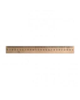 Линейка деревянная 25 см (шелкография)