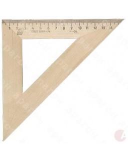 Треугольник линейка деревянная 16 см 45*45