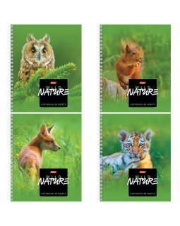 """Тетрадь """"Wild Nature"""", 48 листов, А5, клетка, на гребне"""