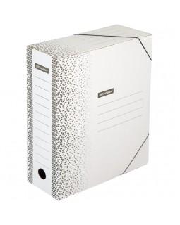 """Папка архивная на резинках OfficeSpace """"Standard"""" плотная, микрогофрокартон, 100мм, белая, 900л."""