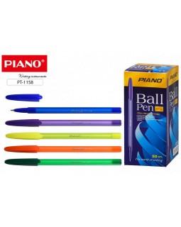 Ручка шариковая Piano 1158 синяя на масл. основе