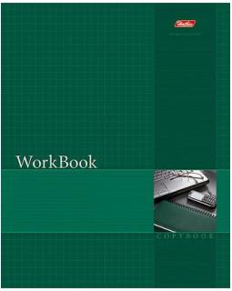 """Тетрадь """"WorkBook"""", А5, 96 листов, клетка, зеленая"""