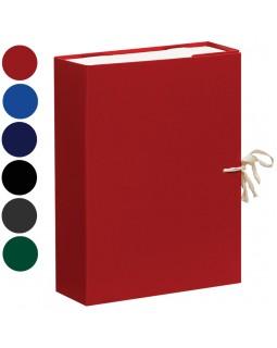 Короб архивный с завязками OfficeSpace разборный, БВ, 80мм, ассорти, клапан микрогофрокартон, 700л